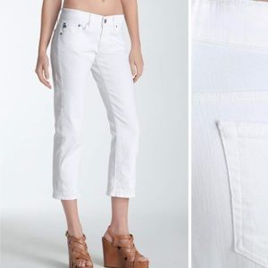 • AG Adriano Goldschmied • The Tomboy Crop White